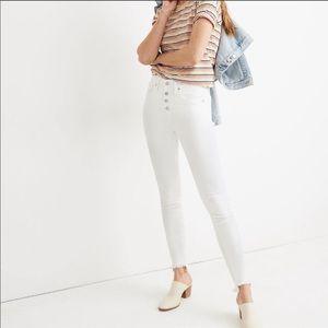 "NWT Madewell White 10"" High-Rise Skinny Jeans"